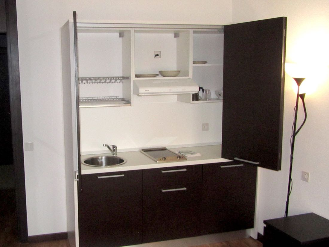 kitchenette del residence a lugano