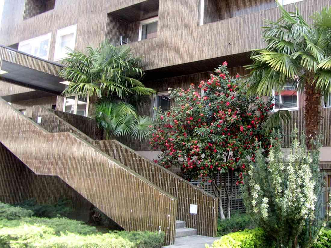 giardino del residence a lugano